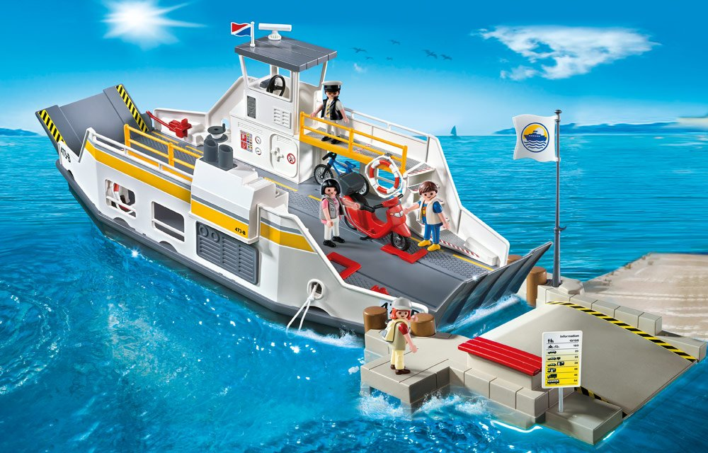 Car Ferry With Pier Toys Games