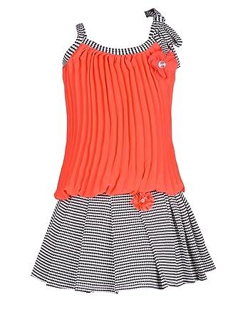 Aarika Girl's Self Design Top and Skirt Set Girls' Dresses & Jumpsuits at amazon