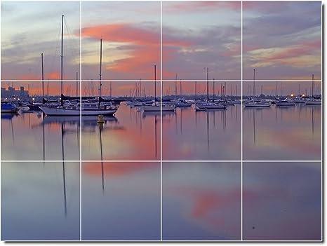 Navi barche foto murale per piastrelle 26. 32 4 x 43 2 cm con 12