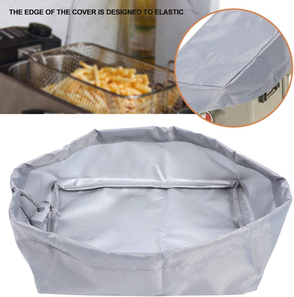 Hyuduo 420D Oxford Chiffon friteuse Cache-poussière Machine à Frire Housse de Protection extérieure pour Usage Domestique 20x15x8 cm(Gris) Gris