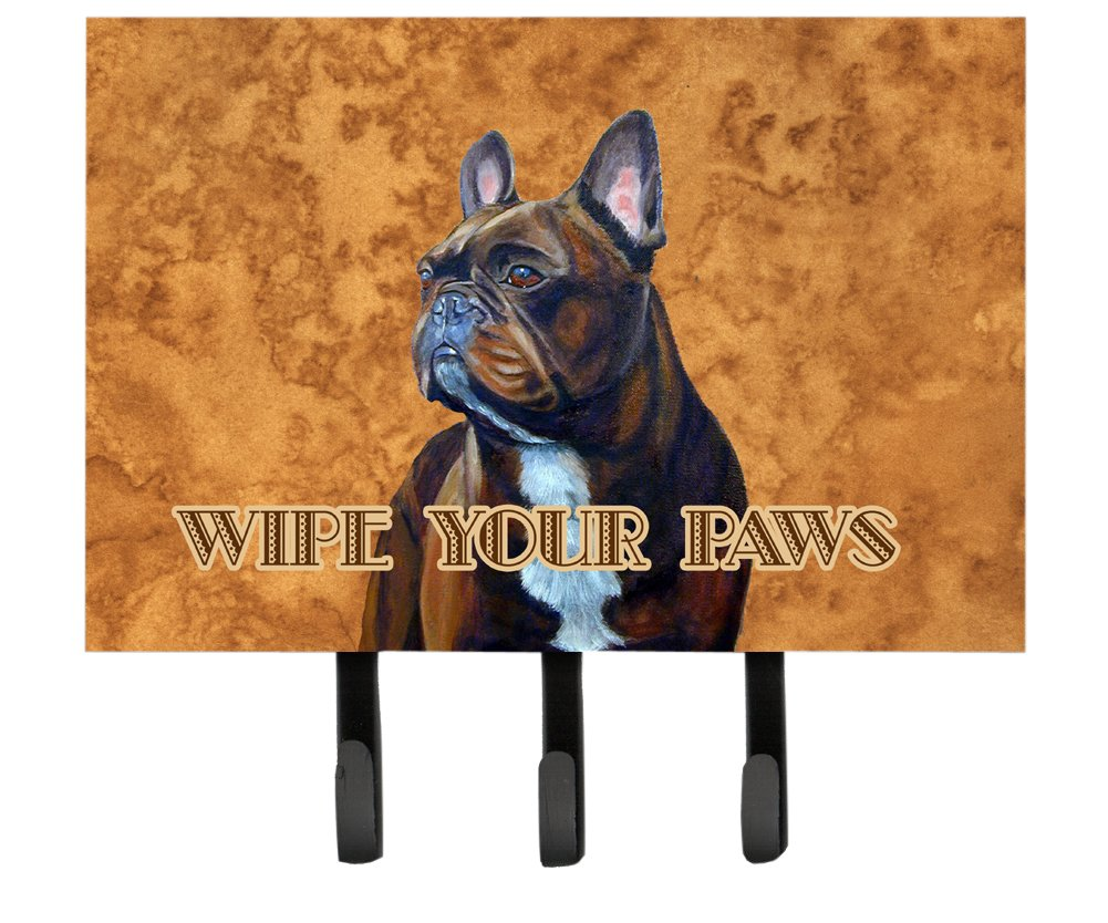 Multicolor Large Carolines Treasures LH9455TH68 French Bulldog Wipe Your Paws Leash or Key Holder