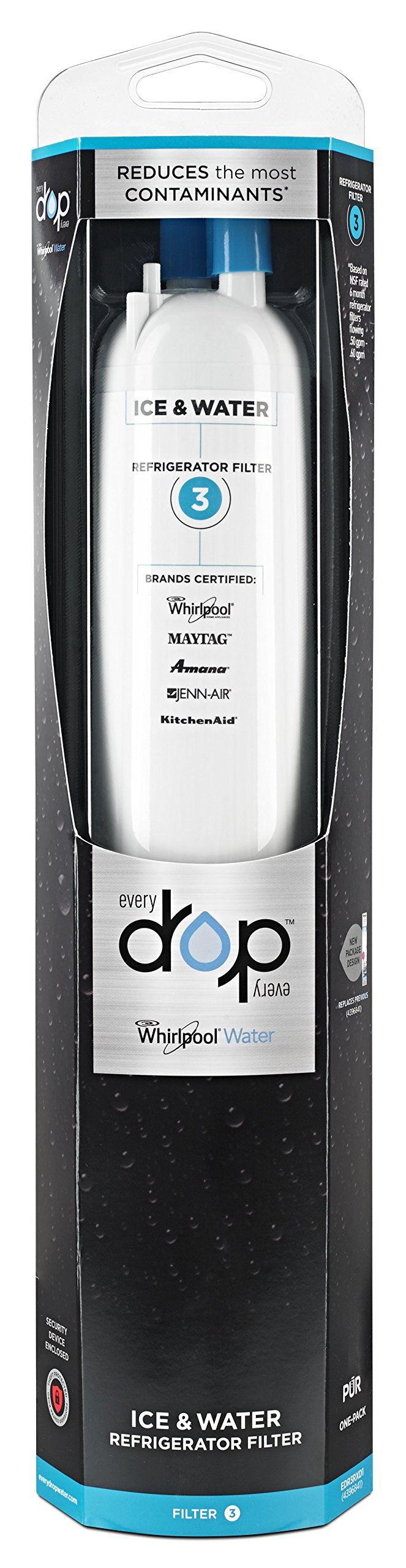Whirlpool EDR3RXD1 EveryDrop by Refrigerator Water Filter 3 (Pack of 1)
