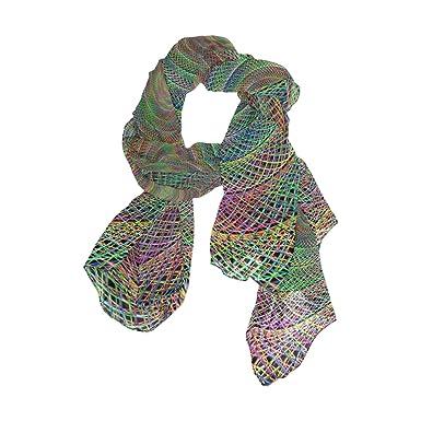 Lightweight Silk Scarves Spiral Spin Artwork Twirl Twist Thin Shawl