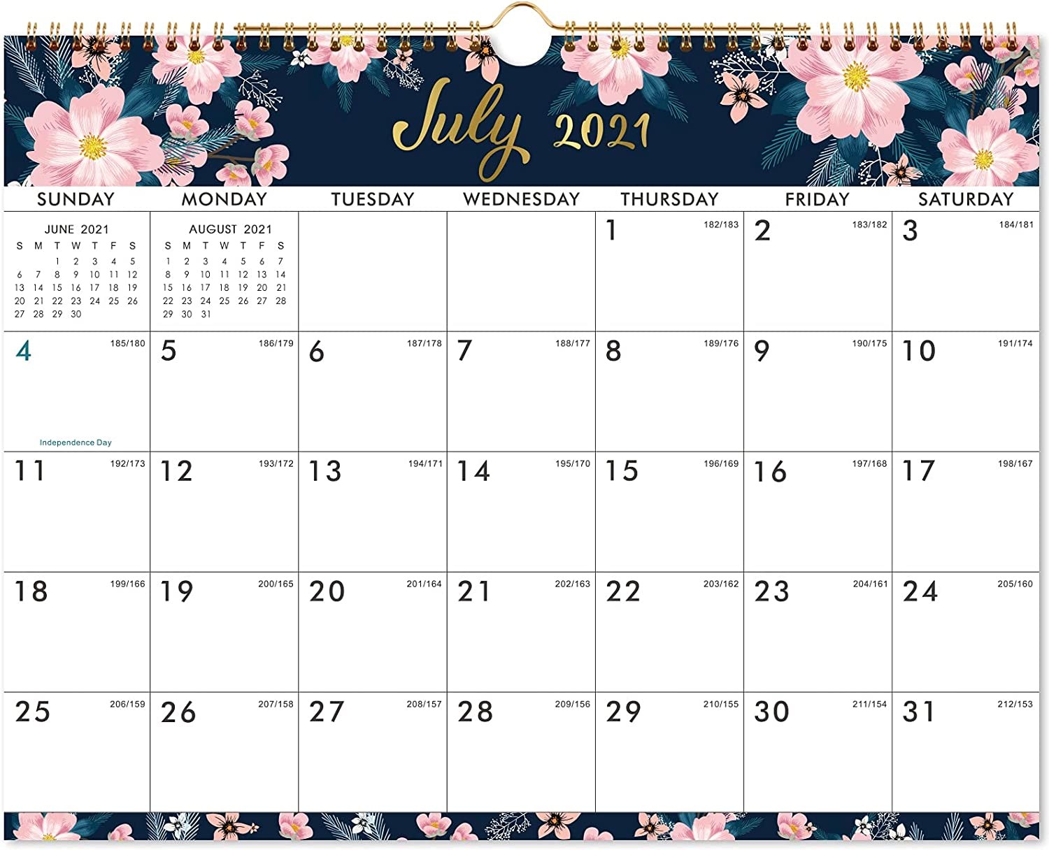 """2021-2022 Calendar - Wall Calendar with Colorful Monthly Page, Jul 2021 - Dec 2022, 15"""" x 11.5"""", Twin-Wire Binding & Large Blocks, Perfect for School, Office & Home Planning"""