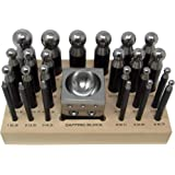 Dapping Block Punch Puncher Round Circle Metal Forming Steel (26 Piece)