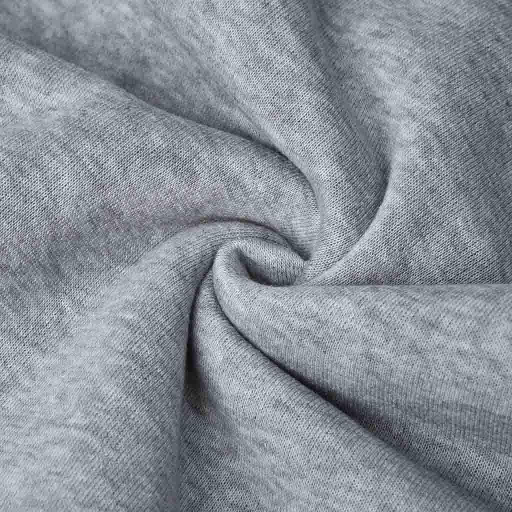 YOcheerful Mens Hoodies Autumn Winter Casual Round Neck Printed Long Sleeve Pockets Tops Sweatshirt Black