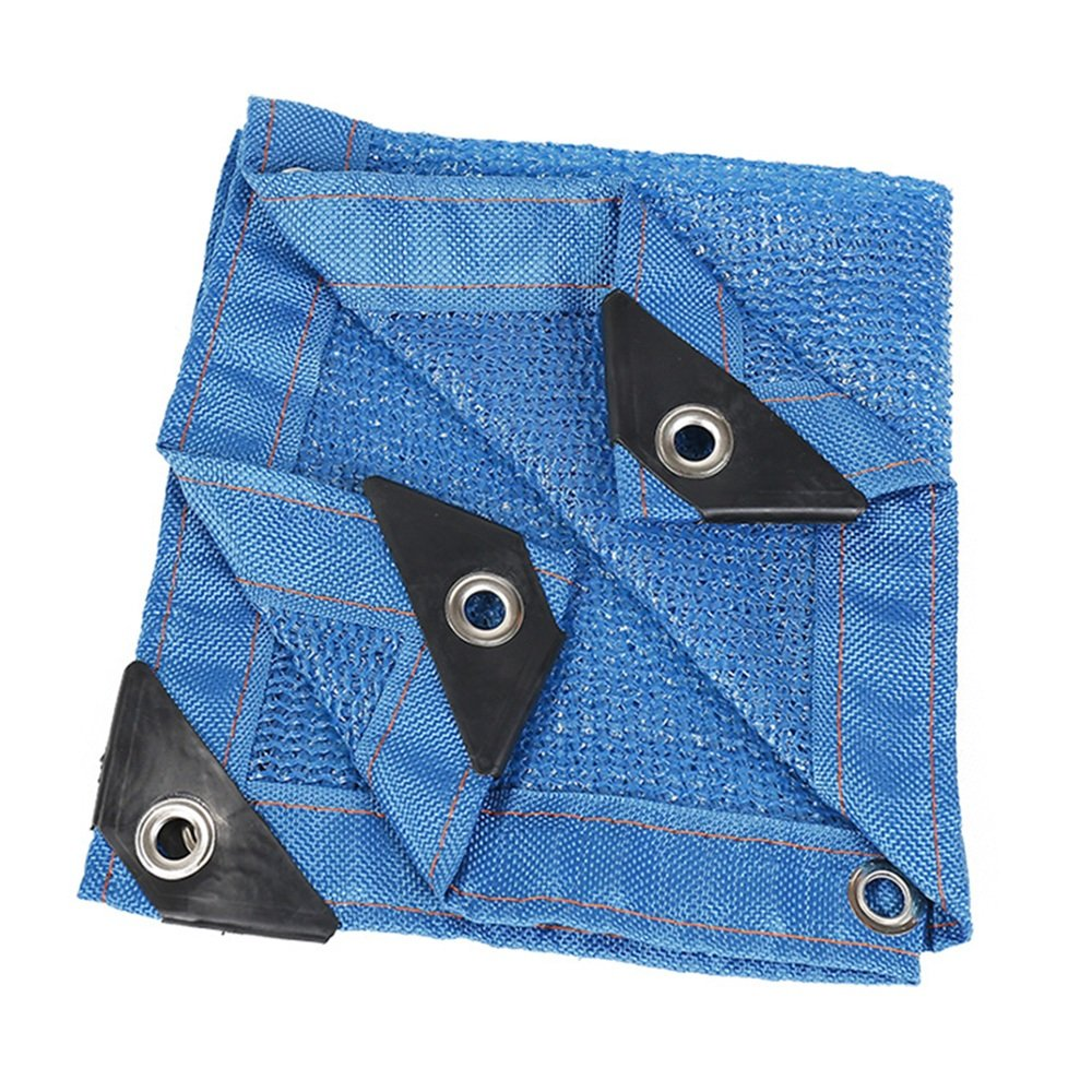 GJM Shop durabilità Rete Isolante per Protezione Solare A Rete per Tende da Sole 85% blu Patio Peso Leggero (colore   Blu, Dimensioni   8  8m)