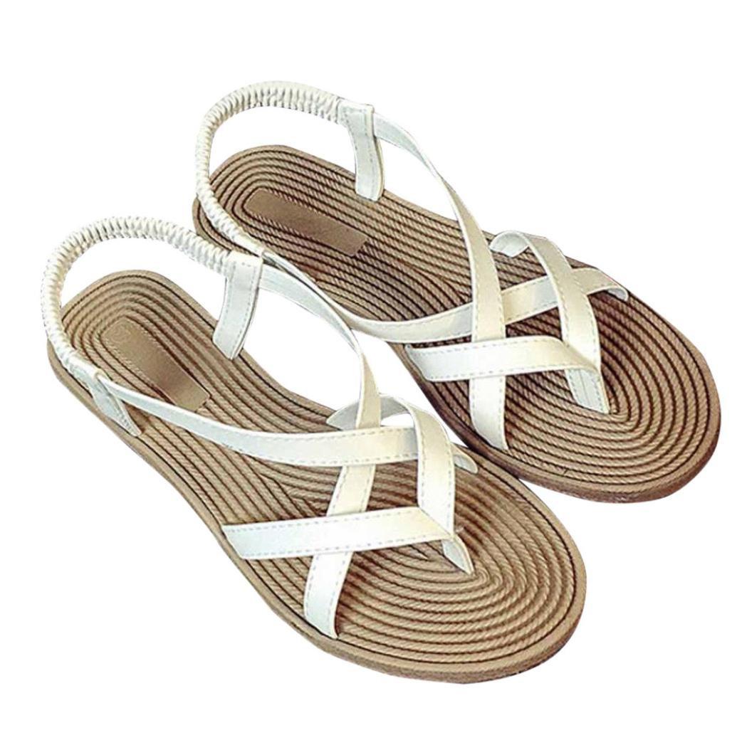 feiXIANG Damen schuhe Bandage freizeit lady outdoor flach sandalen39|Wei?