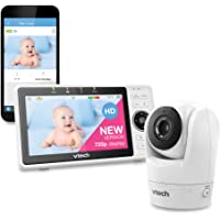 """VTech VM901 WiFi Video Baby Monitor with Free Live Remote Access, 1080p Full HD Camera, 5"""" Screen, Pan Tilt Zoom, HD…"""