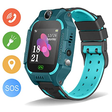 Enow Kids Smart Watch, IP67 Waterproof Watches LBS Tracker for Boys Girls with SOS Call Camera Flashlight Alarm Activity 1.44 Touch Screen SIM Card ...