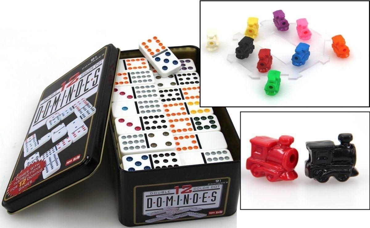 Doppel 12 Domino ludomax Mexican Train Set Std Trend Spiel