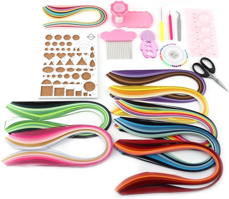 kit de manualidades opcional DIY Kit de herramientas de corte de zjchao Quilling Paper 960 tiras de 3 mm//5 mm