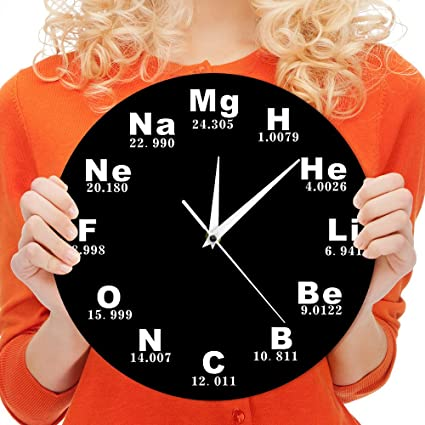 Amazon the geeky days chemical symbols wall clock chemical the geeky days chemical symbols wall clock chemical elements periodic table clock biology wall art novelty urtaz Images