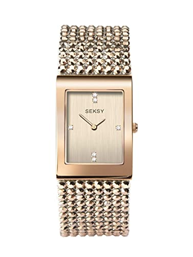 aba0bca448d Seksy Shimmer by Sekonda Ladies Crystal Set Bracelet Watch 2724   Amazon.co.uk  Watches