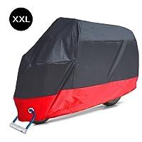 Housse de Protection pour Moto, Aoafun Couverture Imperméable en Polyester 190T pour Moto, (Taille:XXL-265 * 125 * 105cm)