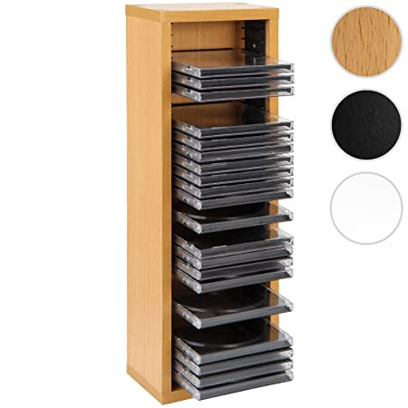 jago cd stand wall mounted 32 cds storage rack shelf available in