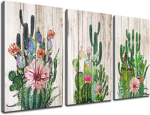 Flowers Pots FLORAL  Canvas Print Framed Photo Picture Wall Artwork WA