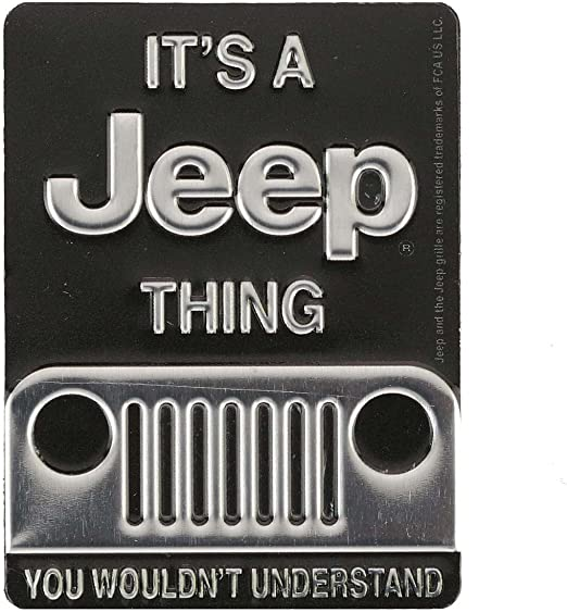 ITS A JEEP THING YOU WOULDN/'T UNDERSTAND METAL SIGN Embossed Garage Shop Decor