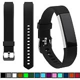 DelTex® Band / Strap With Secure Adjustable Buckle Fastener For Fitbit Alta & Alta HR Activity Tracker Wristband Bracelet