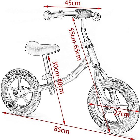 EUGAD Bicicleta Niño 2 ~5 Años sin Pedales Sillín Regulabl Seguridad Ayude a los niños a ejercitar el Equilibrio y el Entrenamiento Mental Color Verde 0007PHC: Amazon.es: Juguetes y juegos