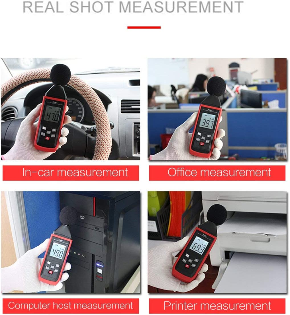fFRtprintse Sonom/ètres num/ériques D/étecteur de Bruit enregistreur de m/ètres enregistreur de d/écibelom/ètre 30~130dB Outil de Diagnostic Audio de Bruit num/érique TA8151
