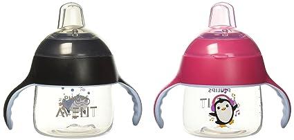2 piece SCF751 7oz Philips Avent My Little Sippy Cup,Black//Black