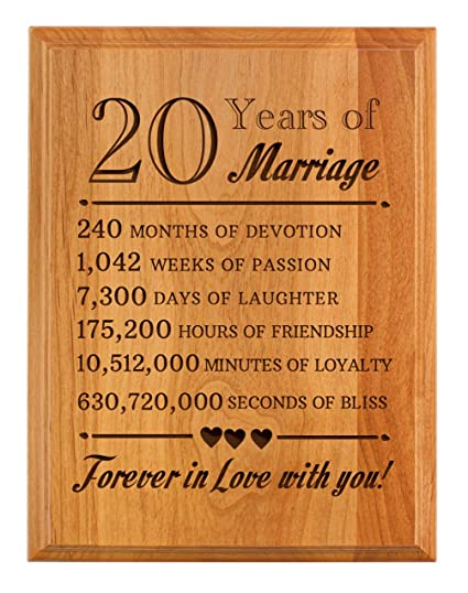 Amazon.com: ThisWear 20th Wedding Anniversary Gifts Forever in Love ...