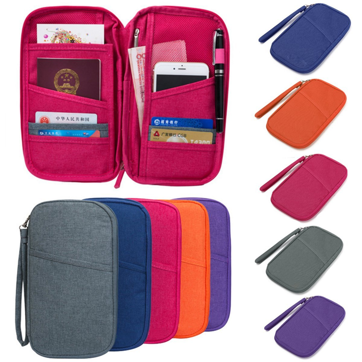 Global Brands con Online - Estuche con Brands cremallera para guardar bolígrafos, tarjetas de crédito, tarjetas de crédito, tarjetas de crédito, cartera, maquillaje, etc. b70eb8