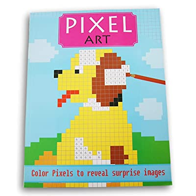 Pixel Art Surprise Images Coloring Book (Dog): Toys & Games