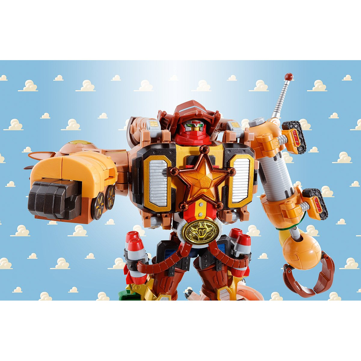 1 Free Classic Trading Card Bundle Bandai Chogokin x Toy Story Combination Die-Cast Action Figure Disney Woody Robo Sheriff Star