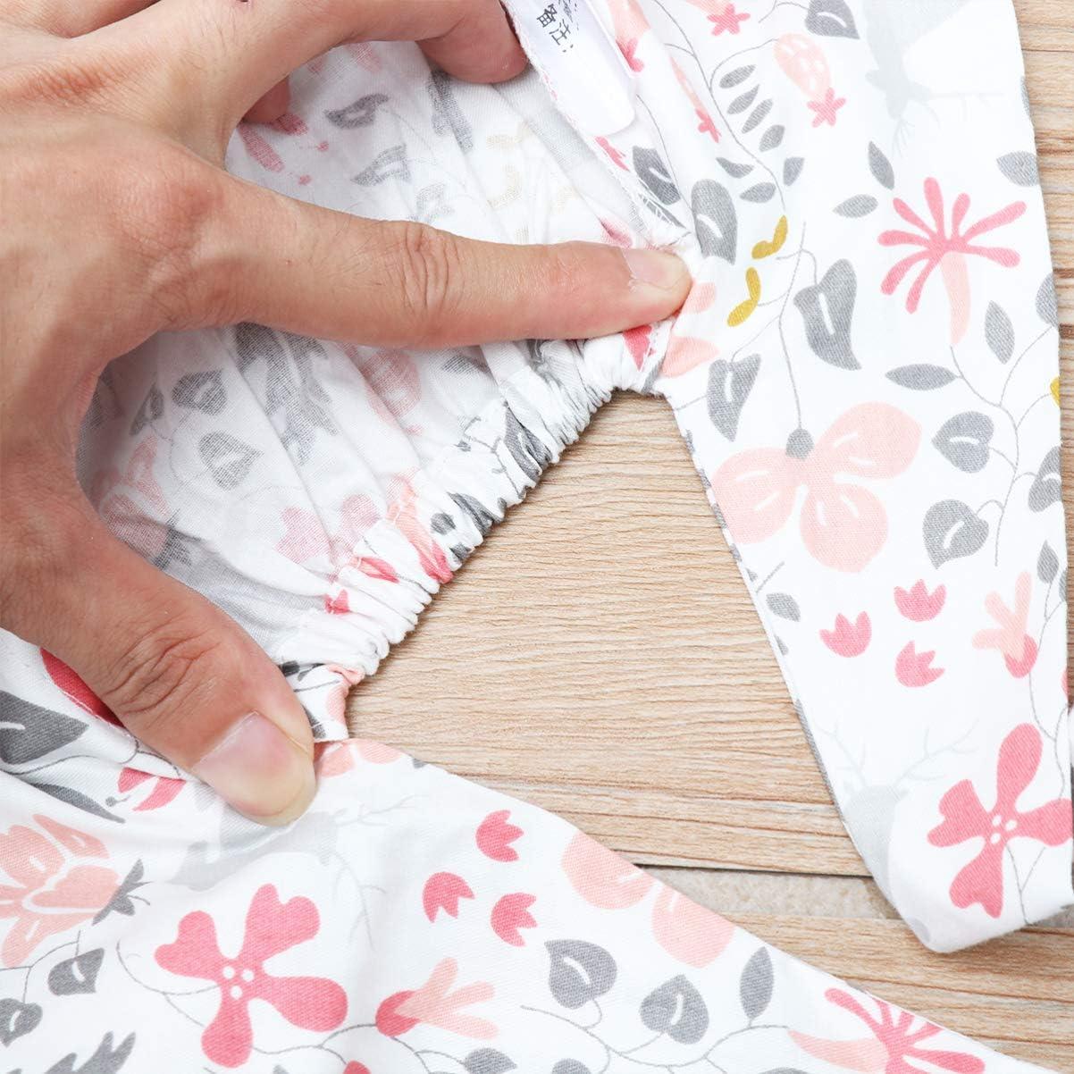 KESYOO Surgical Scrub Cap Flower Pattern Cotton Adjustable Scrub Hat Medical Doctor Nurse Cap Bouffant for Women Men