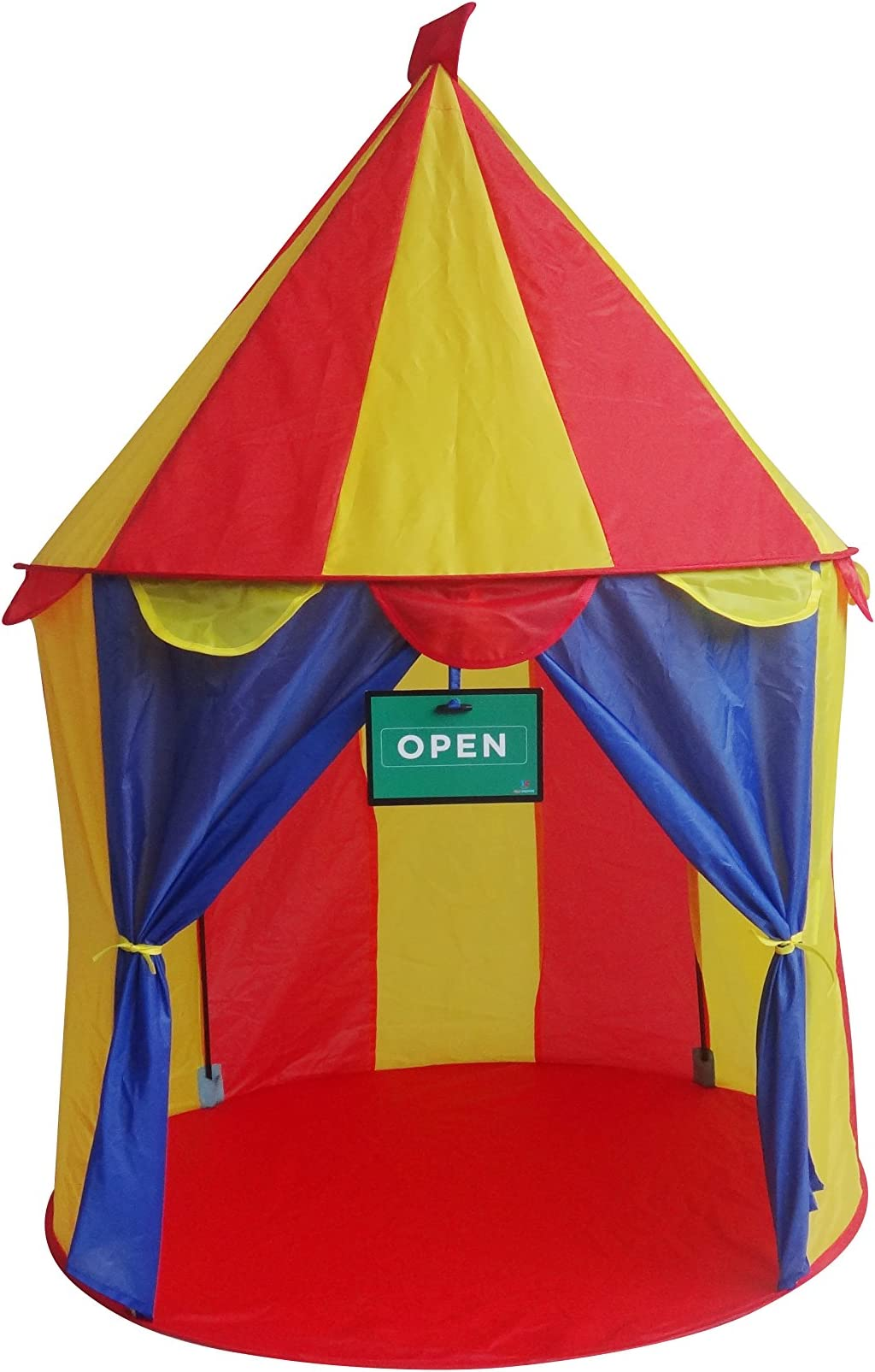 Play Kreative Circus POP UP Tent - Bright Colorful Carnival Booth Play Tent for indoors/  sc 1 st  Amazon.com & Amazon.com: Play Tents u0026 Tunnels: Toys u0026 Games: Play Tents Play ...