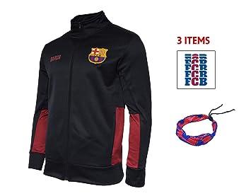 Amazon.com: FC Barcelona con cierre gris chamarra de forro ...