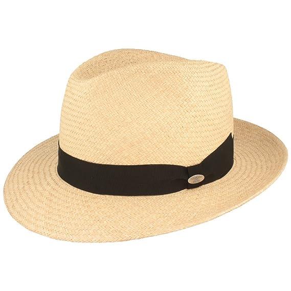 ORIGINAL Sombrero Panama | Sombrero de paja tejido a mano en Ecuador – Correa ancha exterior – Material ligero y transpirable –