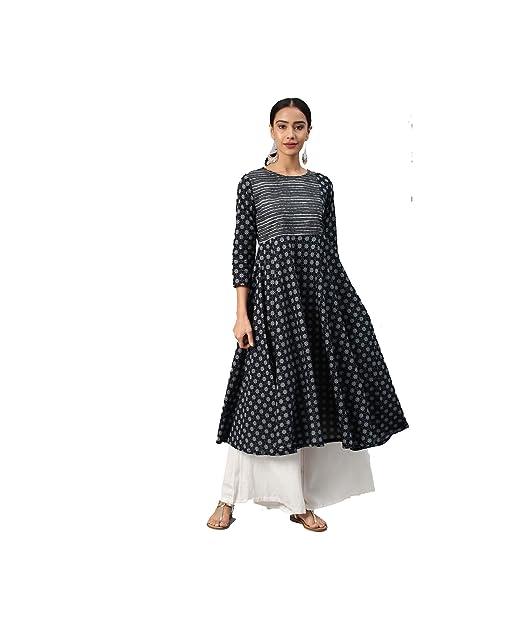 bcaa293702f70 Amazon.com: HIRAL DESIGNER Women Designer Anarkali Kurta Kurtis top ...