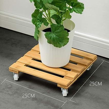 Amazon.com: ZXW Base de madera para maceta de polea para ...