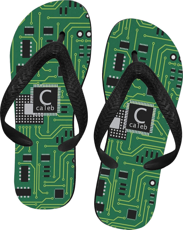 RNK Shops Circuit Board Flip Flops Personalized