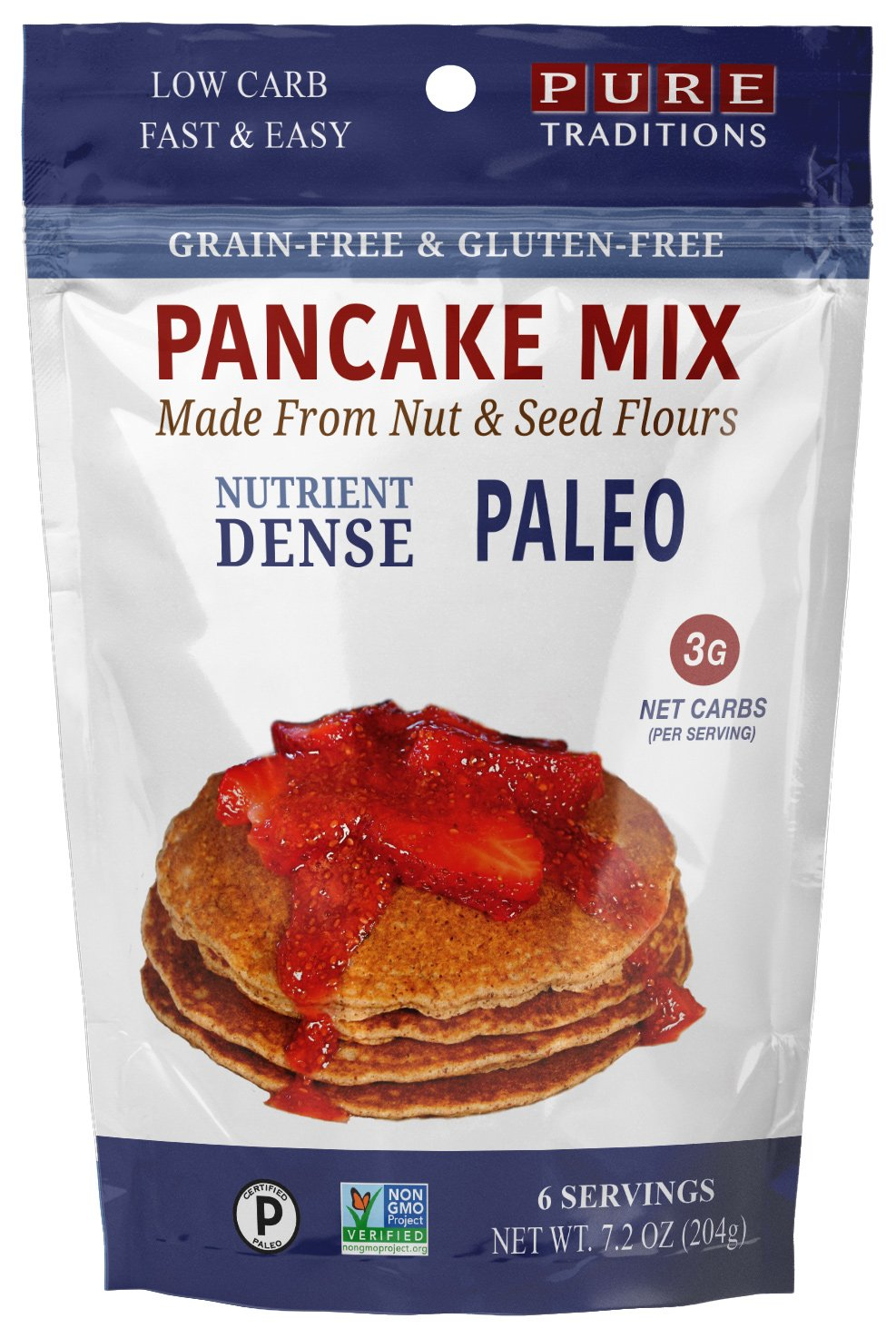 Certified Paleo Pancake Mix, Gluten & Grain Free -- 7.2 Oz (6 Serving)