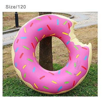 De postre dulce Flotadores gigantes adulto extra grande de donut gigante piscina inflable Boya vida Natación Círculo Rosa anillo: Amazon.es: Deportes y aire ...