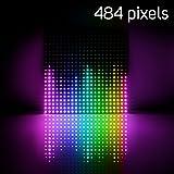 BTF-LIGHTING WS2812B 22x22 Matrix Panel Total 484 Pixels Digital Flexible Individually Addressable Full Dream Color Lighting DC5V