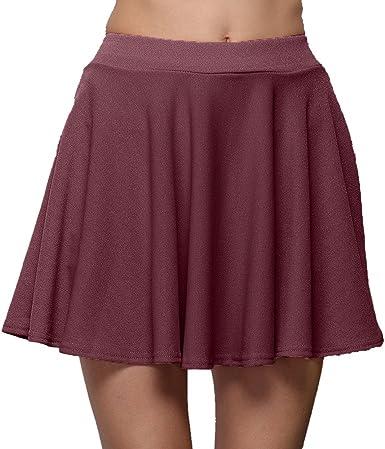 MOMOXI Faldas para Mujer, Minifalda Azul de Encaje de Organza en ...