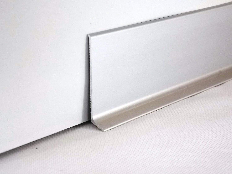 Fabulous Aluminium Sockelleiste 270cm (80mm, silber): Amazon.de: Baumarkt FN07