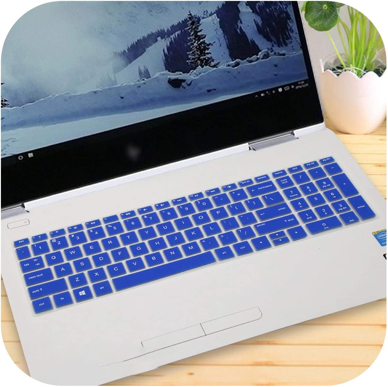 Cb075Tx 15 15.6 Inch Notebook Laptop Keyboard Cover Protector Skin-Candyblue for Hp Envy X360 15 Bd001Tx 15 Cb073Tx