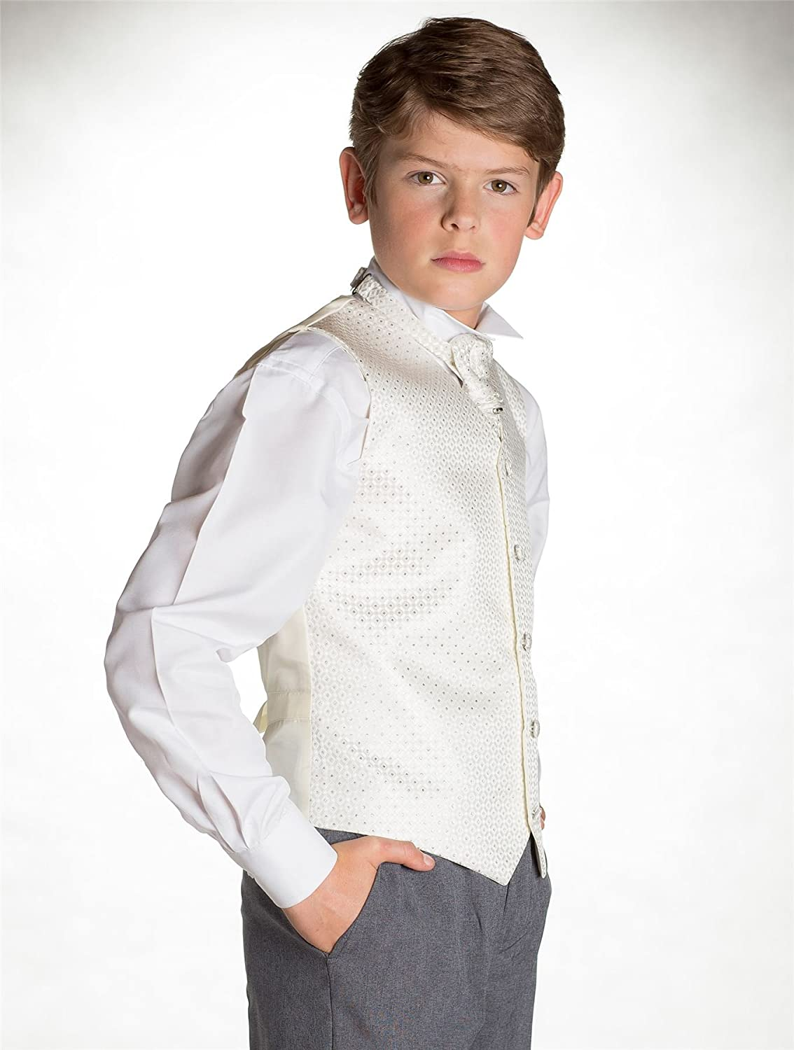 Baby boys Ivory /& Grey Waistcoat Suit Page Boy Suits Boys Suits Paisley of London