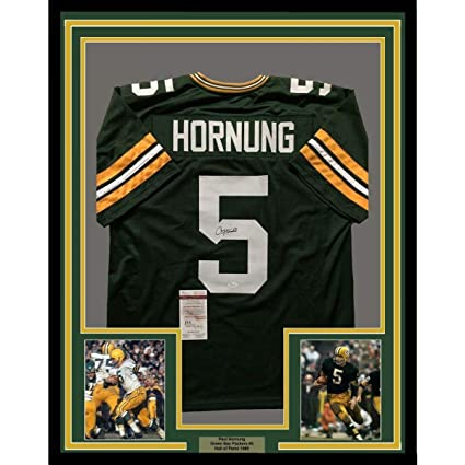 Image Unavailable. Image not available for. Color  Signed Paul Hornung  Jersey - FRAMED 33x42 GB COA - JSA Certified - Autographed ... a55351b9a