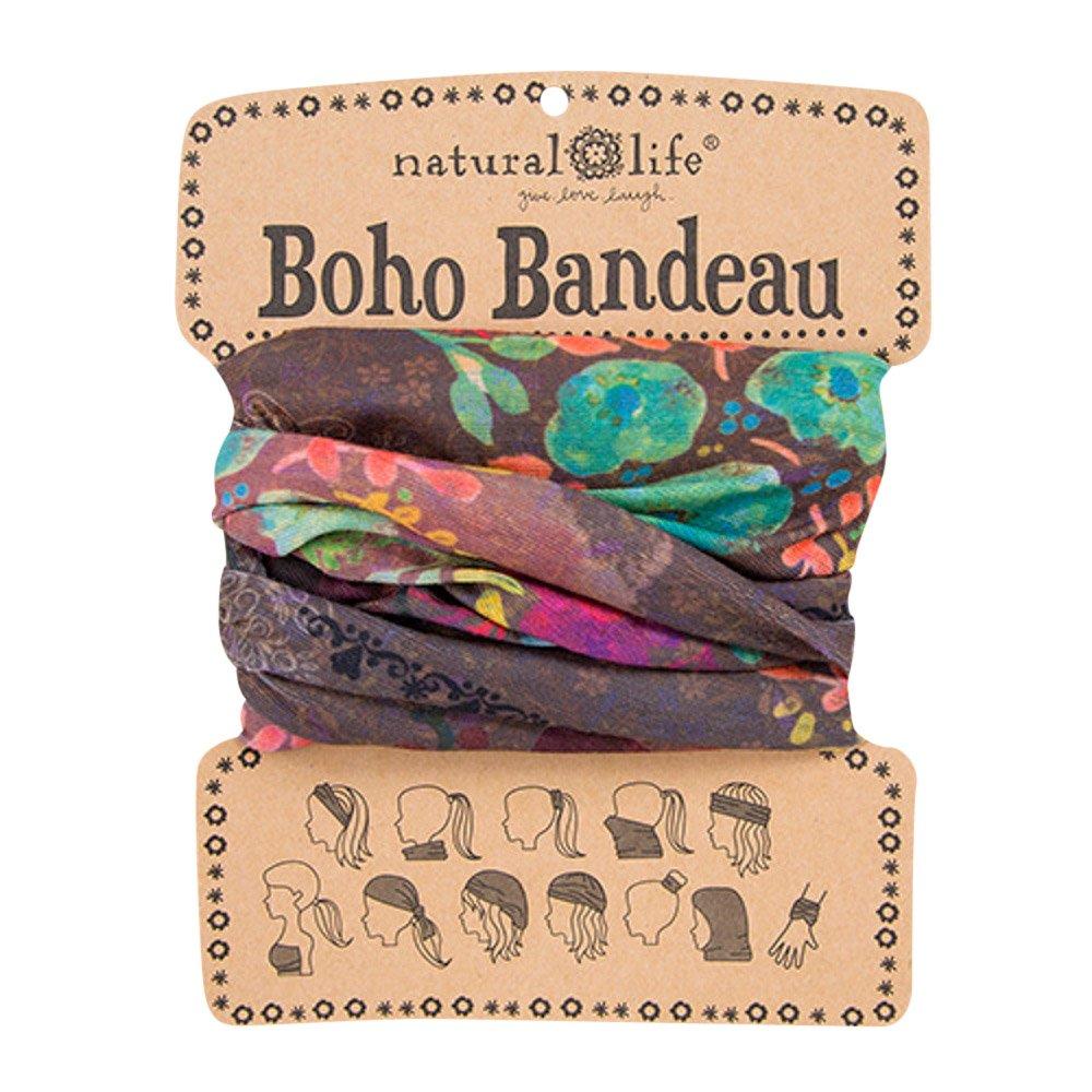 Natural Life Women's Boho Bandeau, Espresso Bright Floral