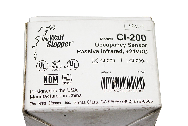 Amazon.com: Wattstopper CI-200 Thew Stopper Passive Infared Occupancy Sensor: Home Improvement