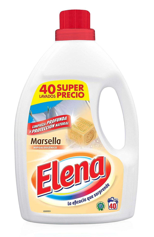 Elena Detergente Líquido Marsella - 6 Paquetes de 40 Dosis - Total ...