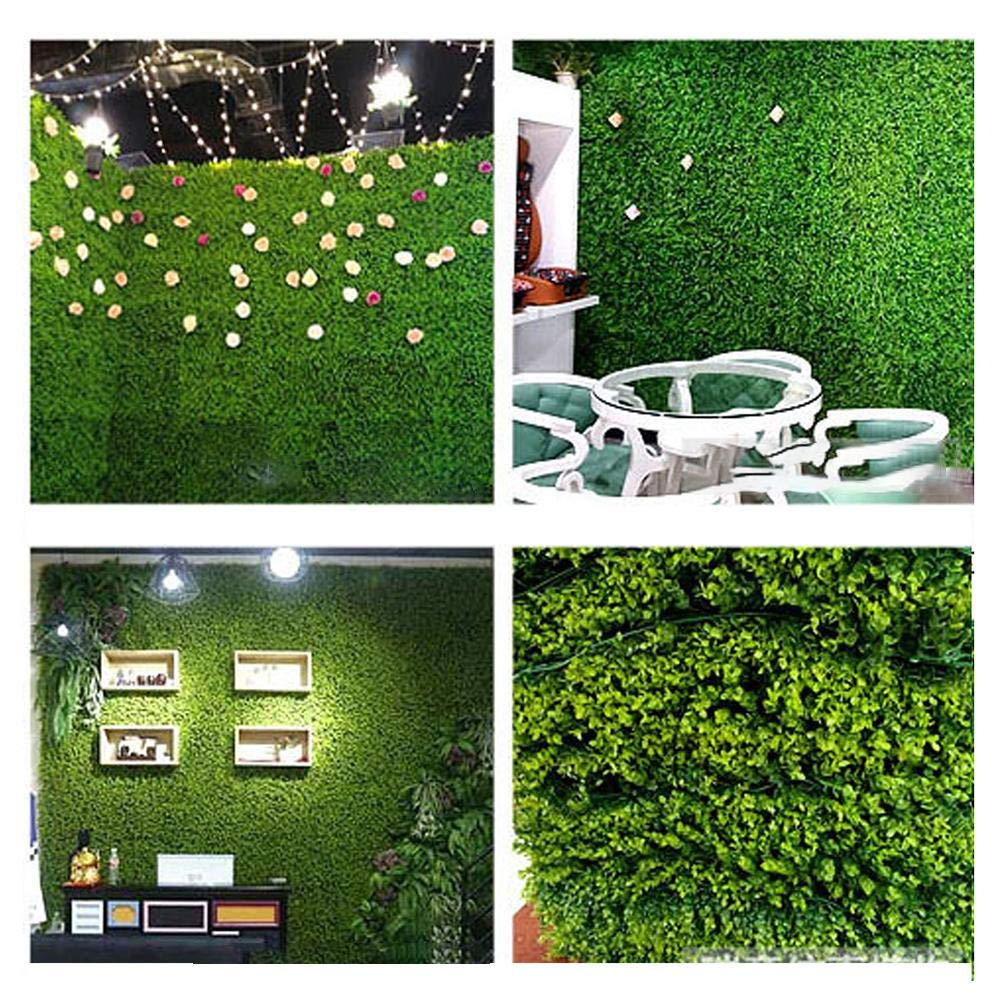 Artificial Boxwood Topiary Hedge Plant Plastic Panel Lattice Wall Decoration for Home Wedding Balcony 1 Pack Garden Fake Fence Mat 15.8 X 23.6