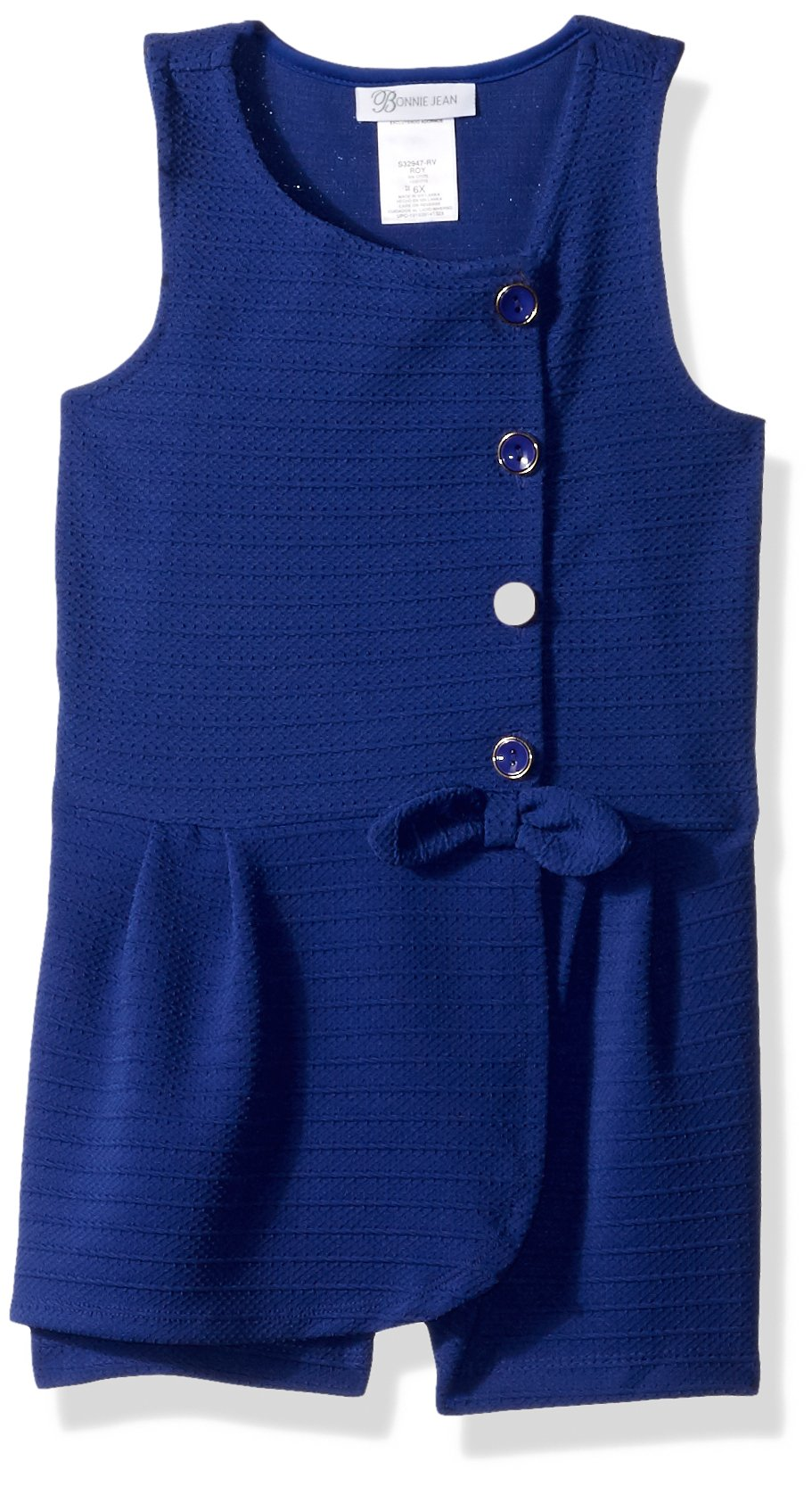 Bonnie Jean Little Girls' Romper, Royal Blue, 6